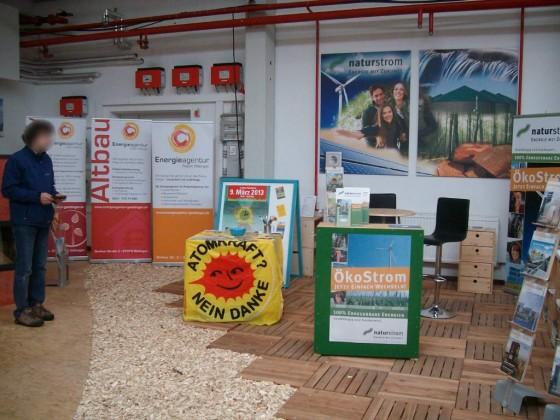 Infostand Erneuerbare EnergieTage Göttingen (23. - 24.2.2013)
